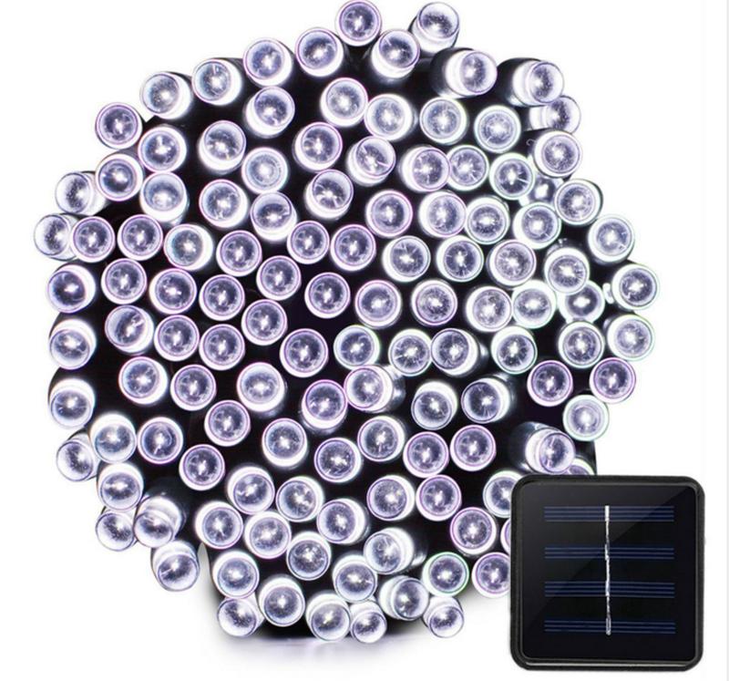 Гирлянда на солнечной батарее 100 LED 12м разные цвета 8 режимов - Фото 2