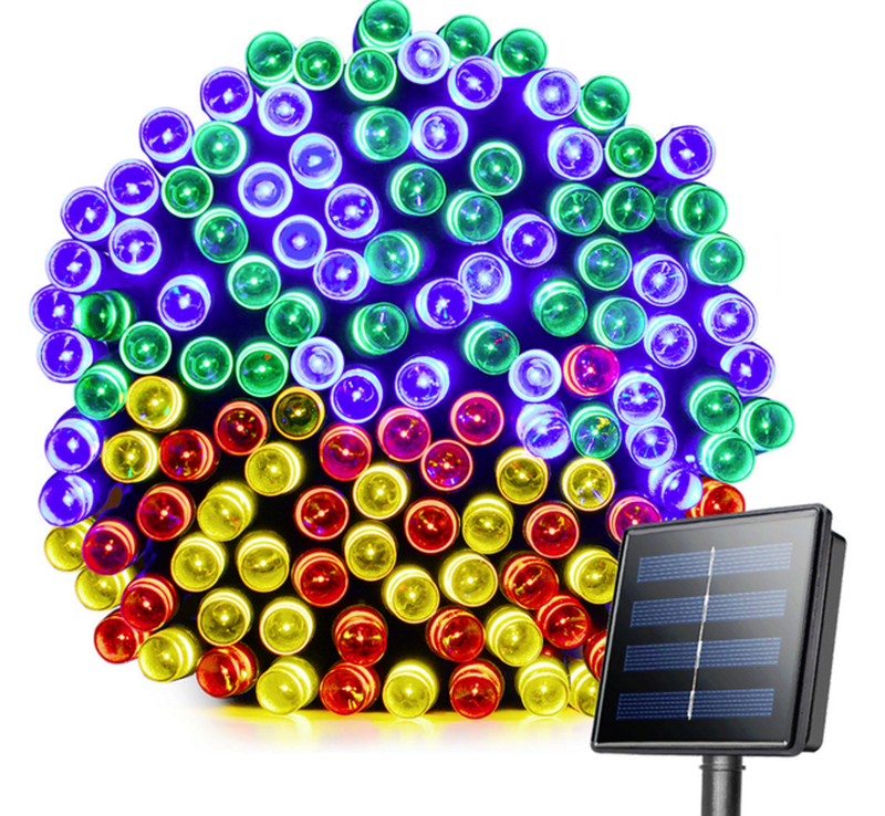 Гирлянда на солнечной батарее 100 LED 12м разные цвета 8 режимов - Фото 5