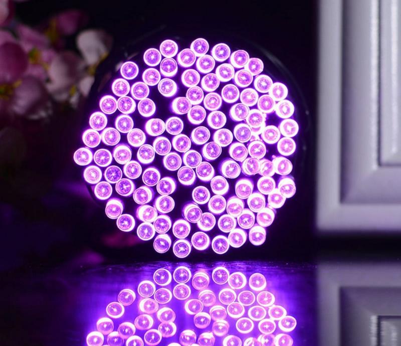 Гирлянда на солнечной батарее 100 LED 12м разные цвета 8 режимов - Фото 7