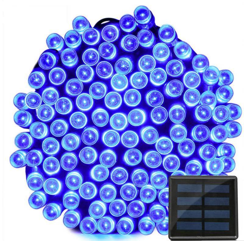 Гирлянда на солнечной батарее 100 LED 12м разные цвета 8 режимов - Фото 6