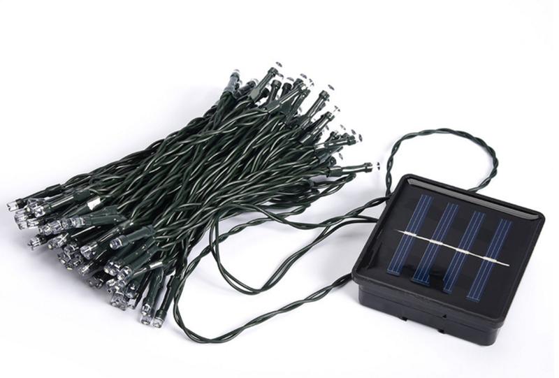Гирлянда на солнечной батарее 100 LED 12м разные цвета 8 режимов - Фото 10