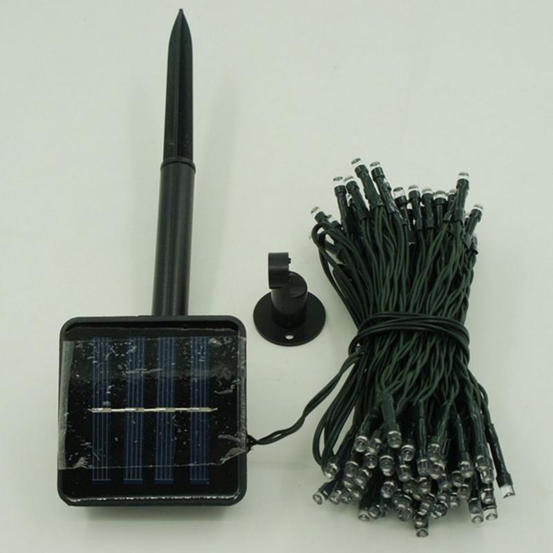 Гирлянда на солнечной батарее 100 LED 12м разные цвета 8 режимов - Фото 12