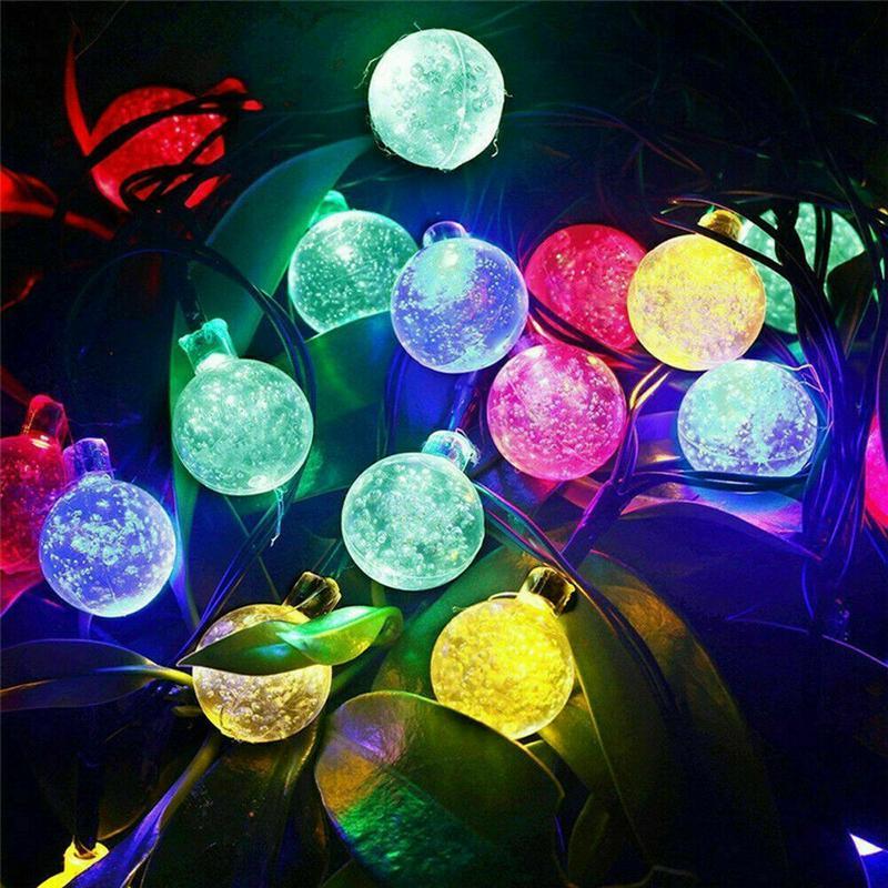 Гирлянда Хрустальные шары на солнечной батарее 50LED 7м разные цв - Фото 8
