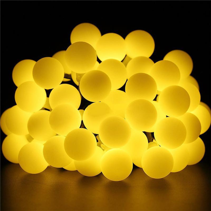 Гирлянда светильник Шарики на солнечной батарее 50LED 7м разные ц - Фото 3