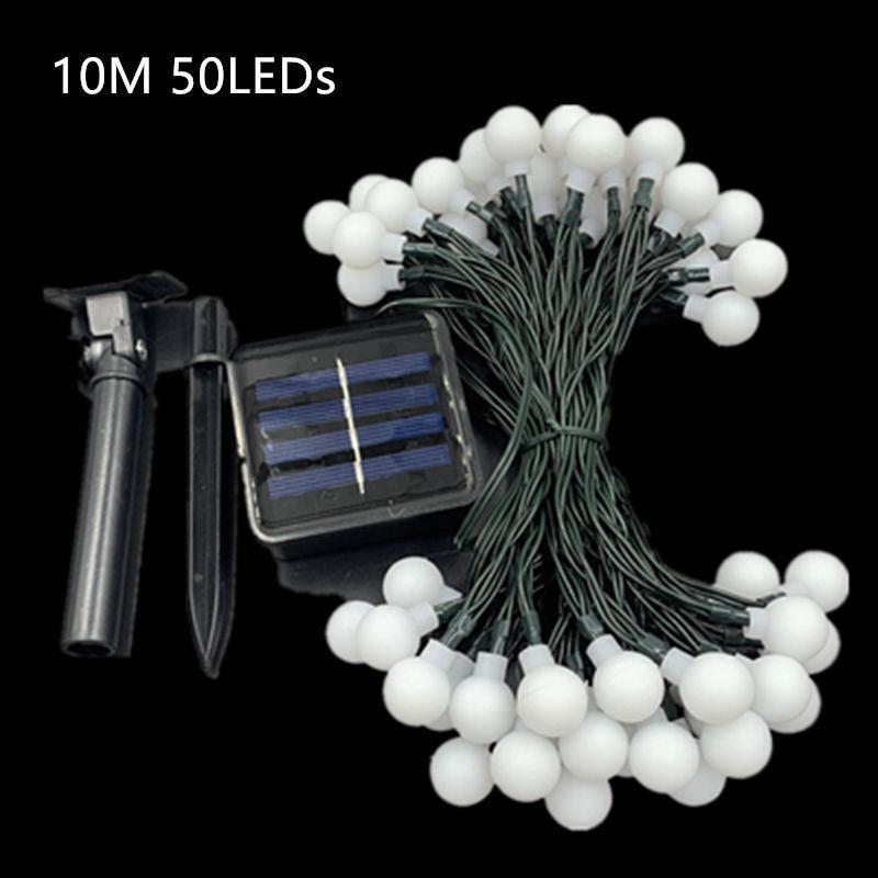 Гирлянда светильник Шарики на солнечной батарее 50LED 7м разные ц - Фото 6