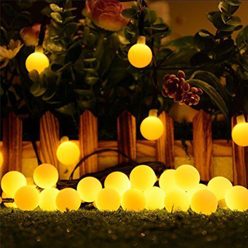 Гирлянда светильник Шарики на солнечной батарее 50LED 7м разные ц - Фото 7