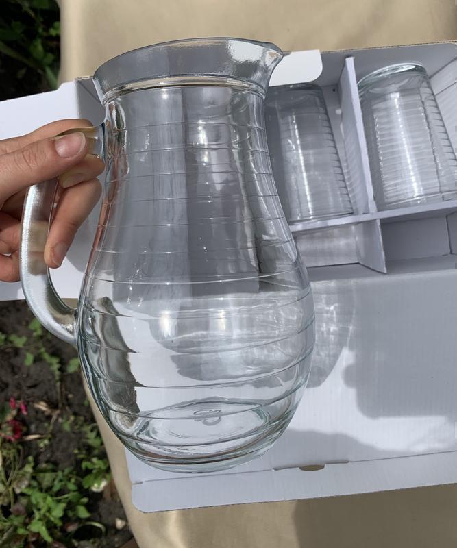 Набор стаканов с кувшином, кувшин, стакани. набір стаканів.