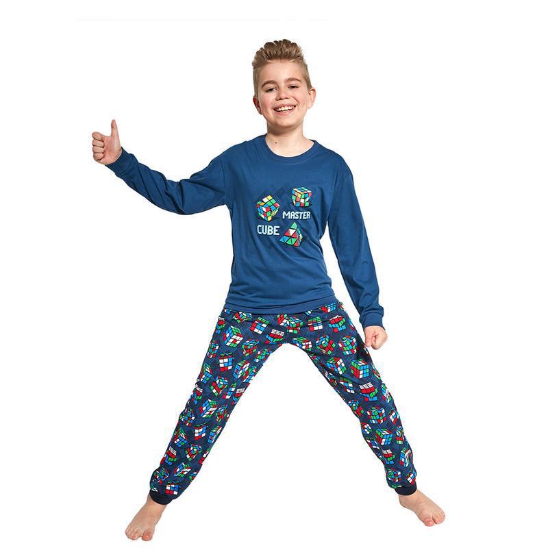 Хлопковый домашний комплект синего цвета на мальчика cornette ...