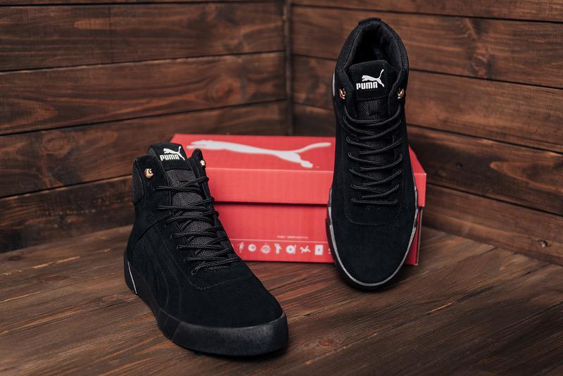 Мужские зимние кожаные ботинки Puma - Фото 2
