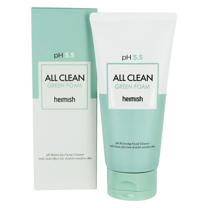 Пенка для умывания pH 5.5 Heimish All Clean Green Foam 150 мл
