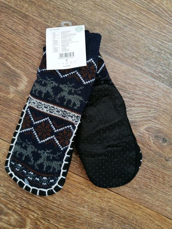 Тёплые махровые носки - тапочки /чешки