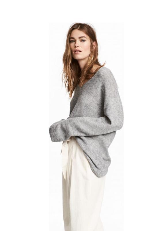H&m пуловер джемпер из трикотажа джерси оверсайз
