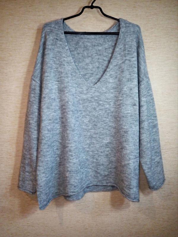 H&m пуловер джемпер из трикотажа джерси оверсайз - Фото 4