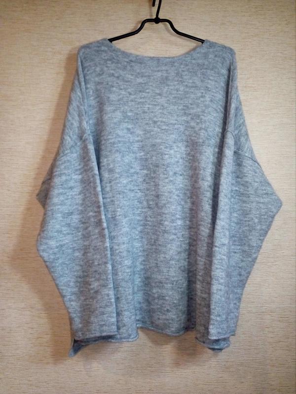 H&m пуловер джемпер из трикотажа джерси оверсайз - Фото 5