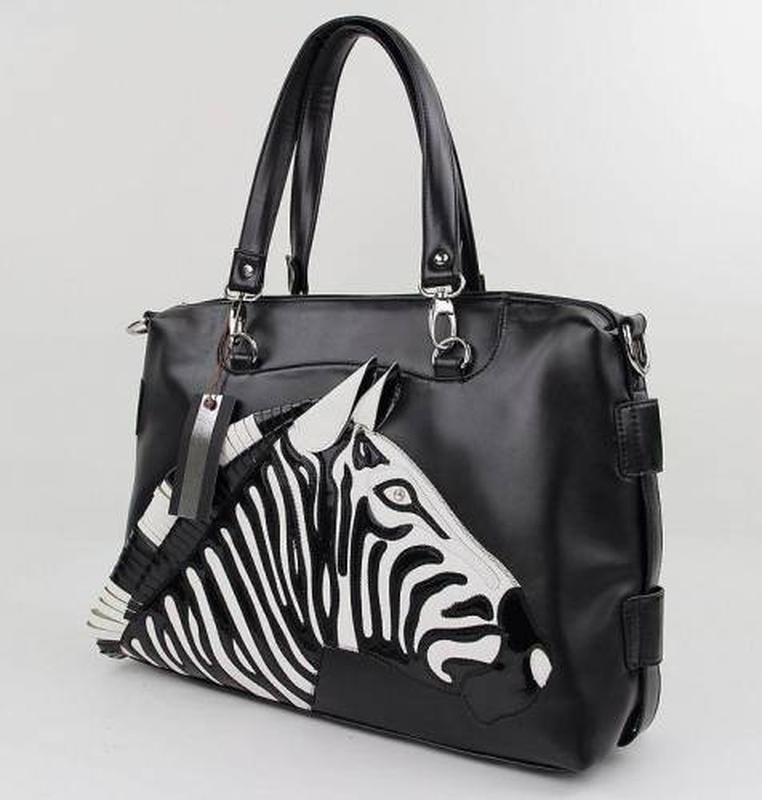Стильная женская сумка зебра totty blu braccialini