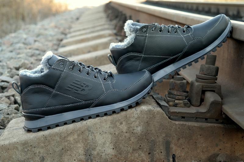Зимние мужские кожаные кроссовки ботинки , отличное качество. ...