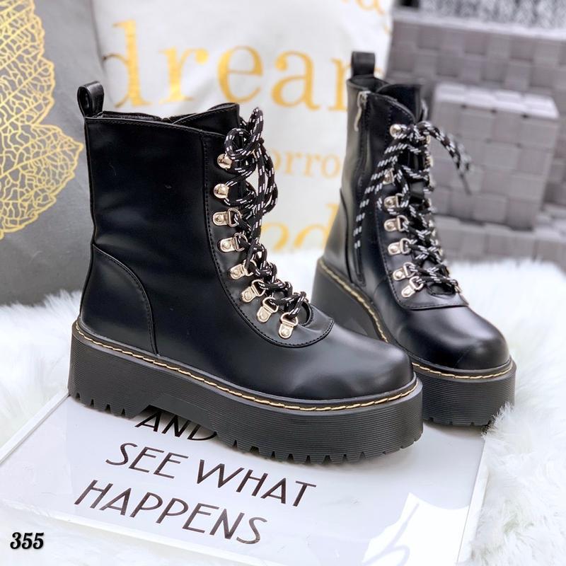 Хит-2019 кожаные осенние грубые ботинки берцы