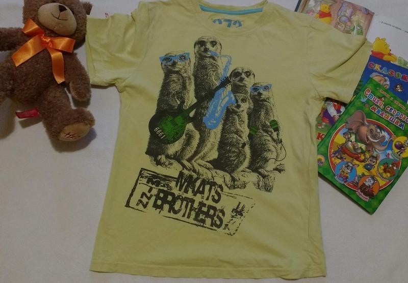 "Крутая футболка с сурикатами ""mkats band"" бренда ""cherokee"", 1..."