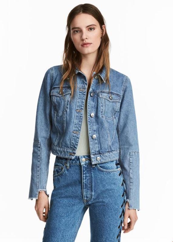 Новые прямые джинсы h&m с переплетами