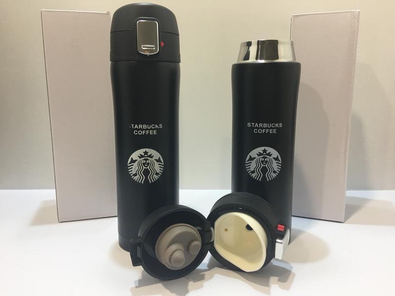 "Термокружка ""Starbucks"", термос 500 мл., черная - Фото 4"