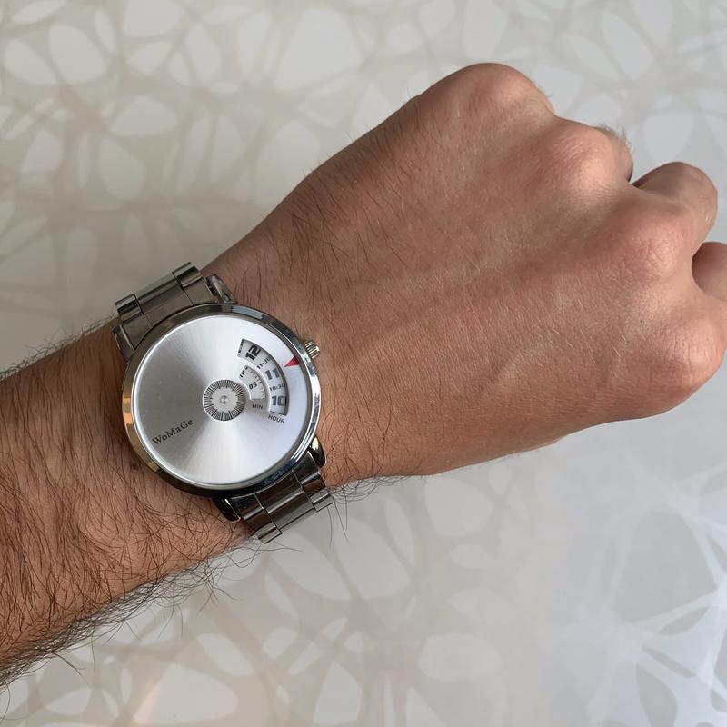 Мужские металлические наручные часы womage серебристые