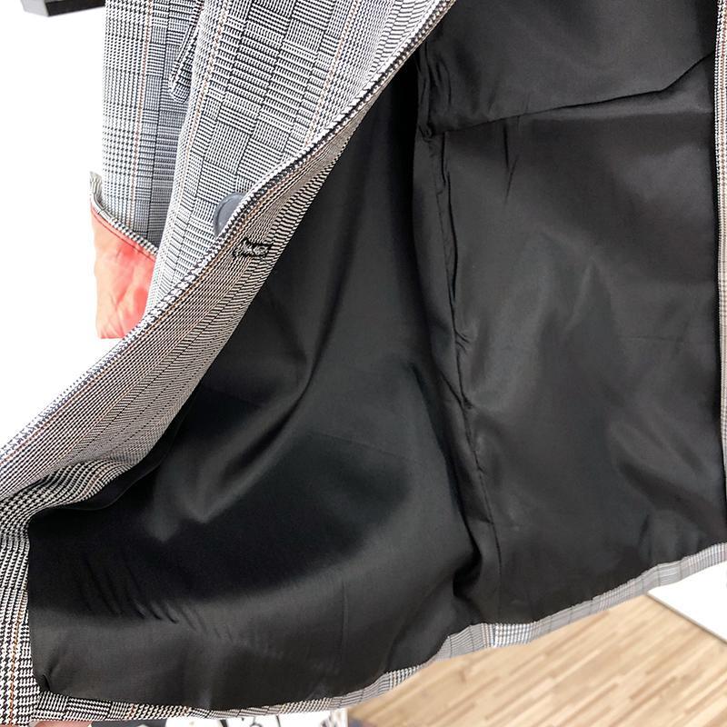 Женский клетчатый пиджак - Фото 10
