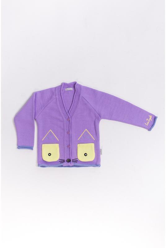 Кофта с ушками котика / фиолетовый - Фото 2
