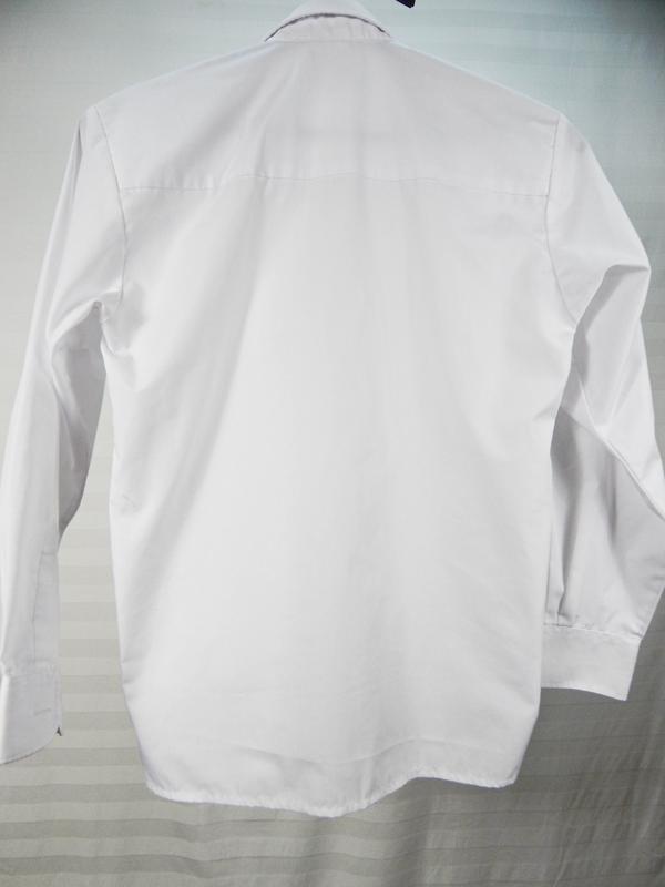 Белая классическая рубашка для школьника - Фото 2