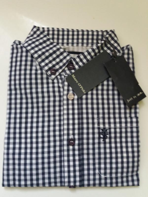 Marc o' polo рубашка. рост 128. качественный хлопок - Фото 2