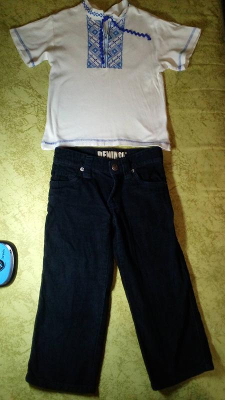 Вышиванка и брючки брюки denim co