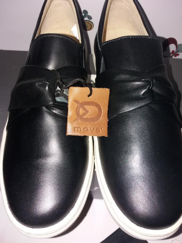 Move by melton дания кожаные туфли, сникерсы. размер 38 - Фото 2