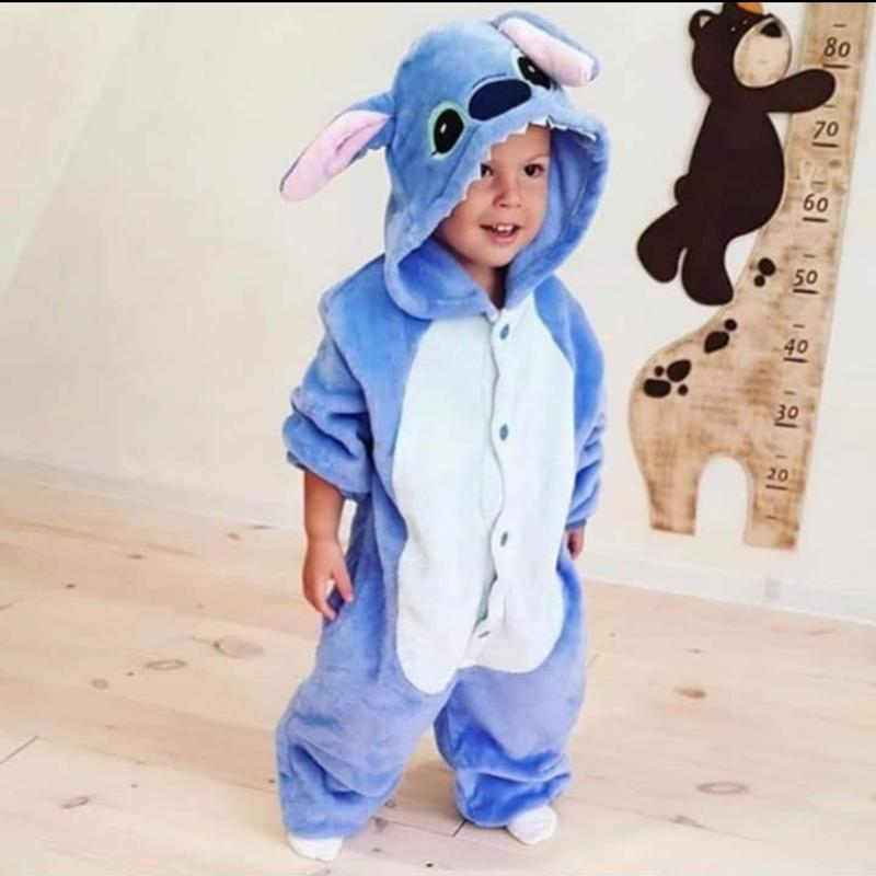 Детский кигуруми пижама пижамка стич stitch плшевая пижама