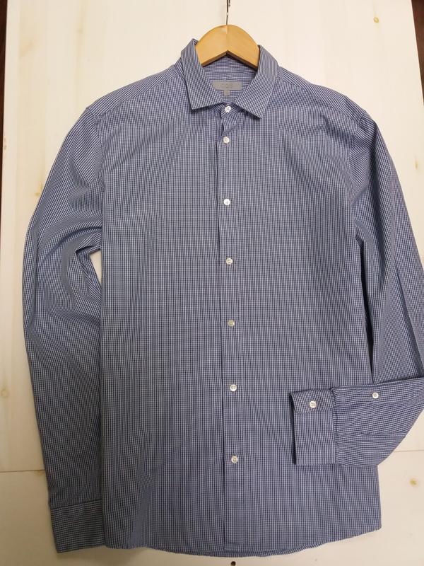 Cos рубашка в мелкую клетку. воротник 41