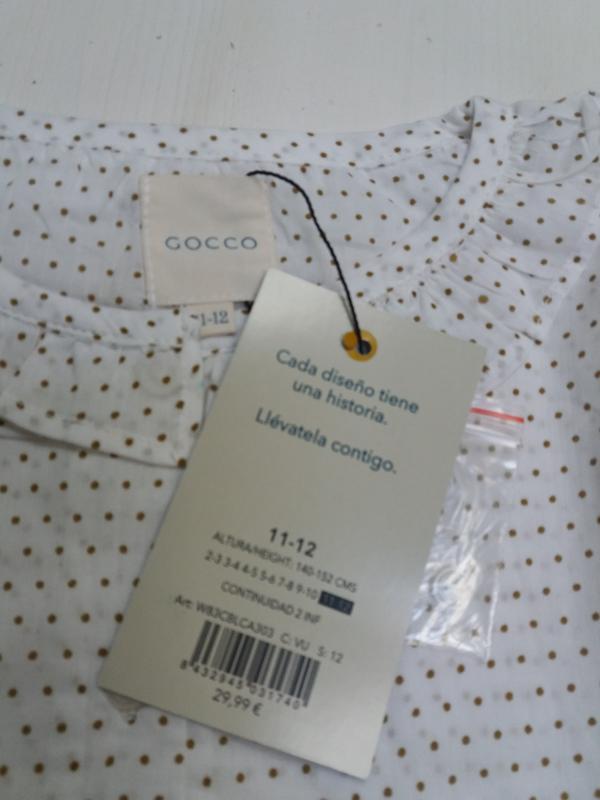 Gocco батистовая блуза. 11-12 лет. топ качество - Фото 5