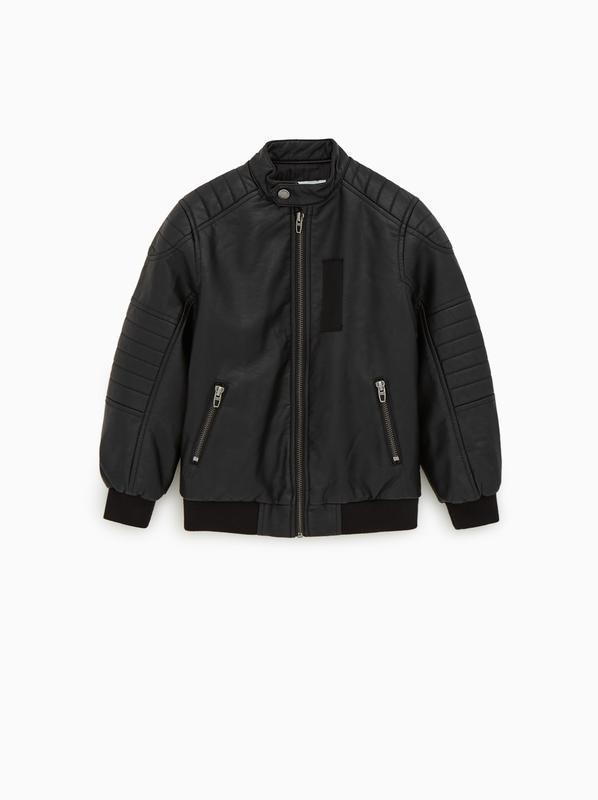 Стильная куртка бомбер эко кожа зара zara