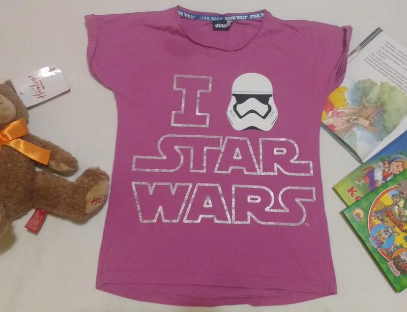 "Классная футболка со штурмовиком ""i love star wars"", 9-10 лет,..."