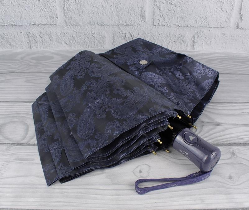 Шикарный качественный складной зонт полуавтомат popular 1696-3...