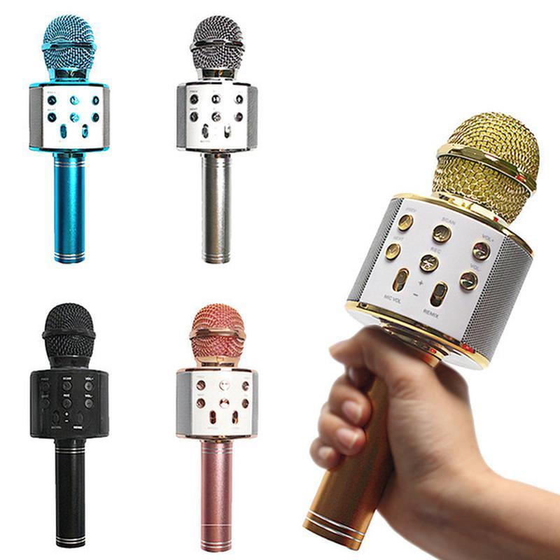 Беспроводной микрофон караоке bluetooth WS-858 - Фото 2