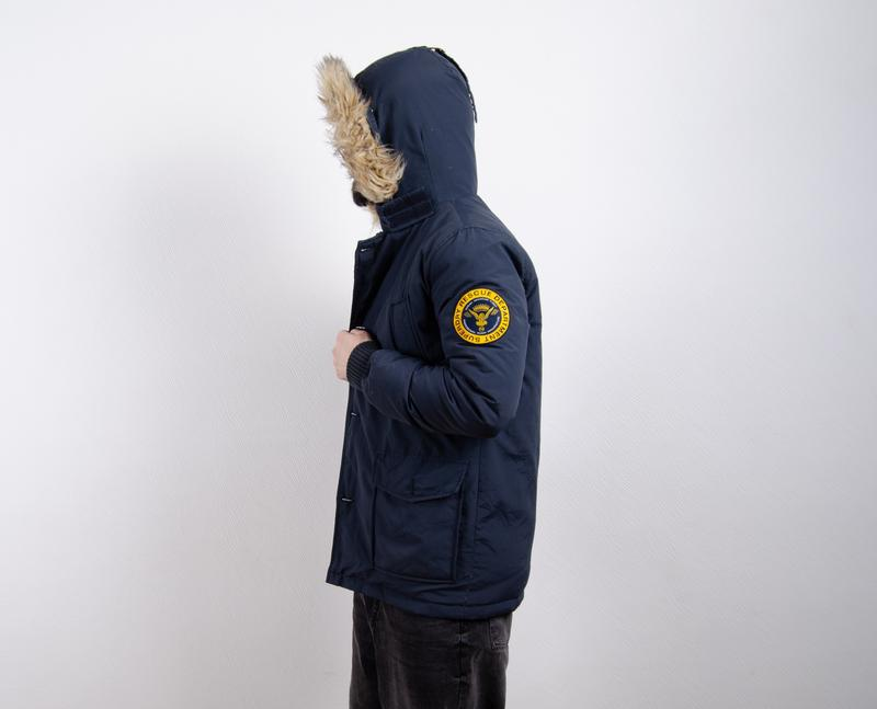 Superdry rescue parka пуховик пуховая парка зимняя куртка - Фото 4