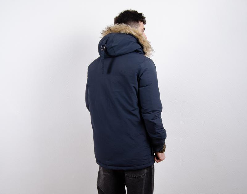 Superdry rescue parka пуховик пуховая парка зимняя куртка - Фото 5