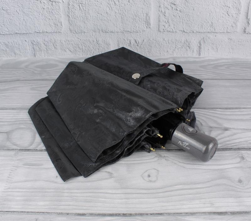 Шикарный качественный складной зонт полуавтомат popular 1696-5...