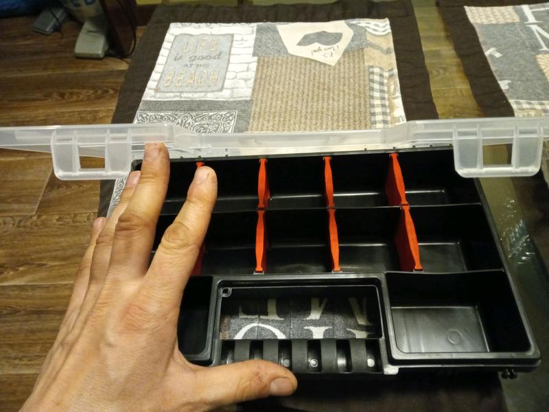 Органайзер,коробка для саморезов,рыбака,рыбалки,мастера рукоделия