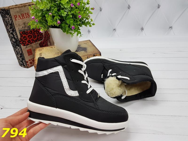 Ботинки зимние на шнуровке - Фото 2