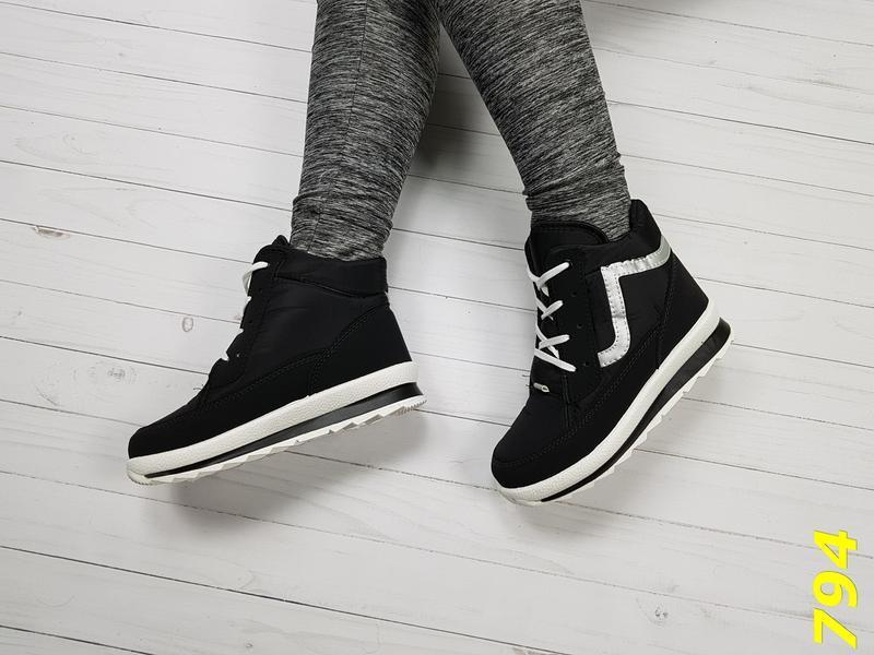 Ботинки зимние на шнуровке - Фото 4