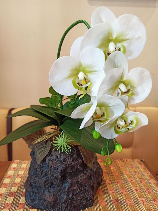 Орхидея искусственная латексная - Фото 5