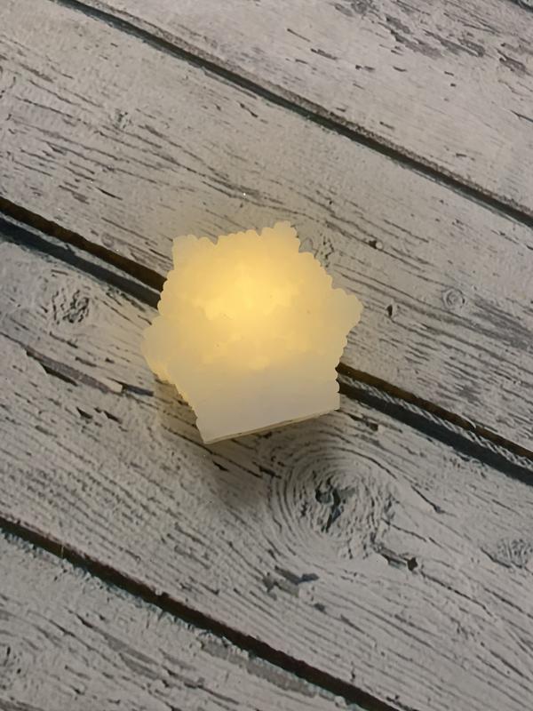 Свеча снежинка свечка led melinera