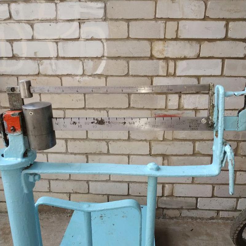 Весы 10-200 кг механические платформенные ссср - Фото 3