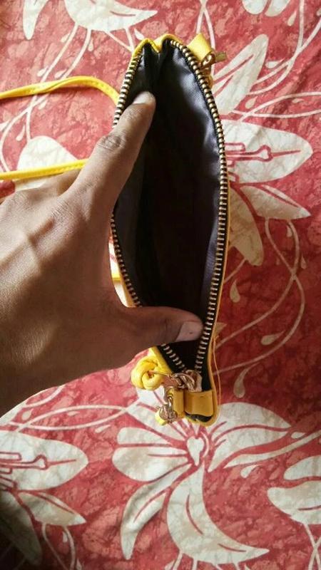 Сумка клатч женская желтая - Фото 5