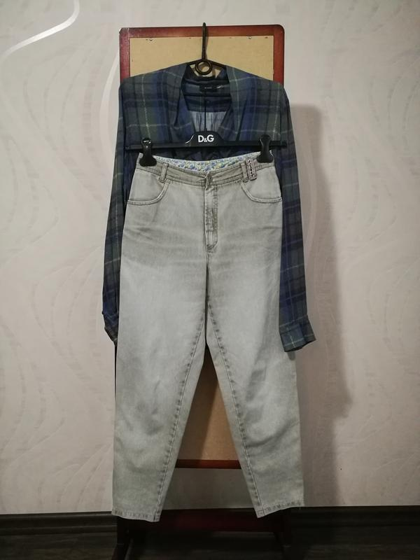 Стильные трендовые брюки джинсы ,,бананы,, высокая посадка,мом...