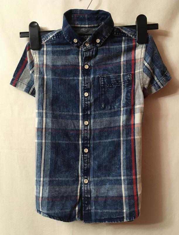 Рубашка с коротким рукавом next на 6 лет